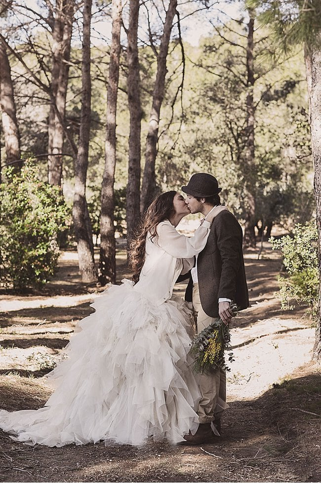 mediterranean forest wedding shoot 0008