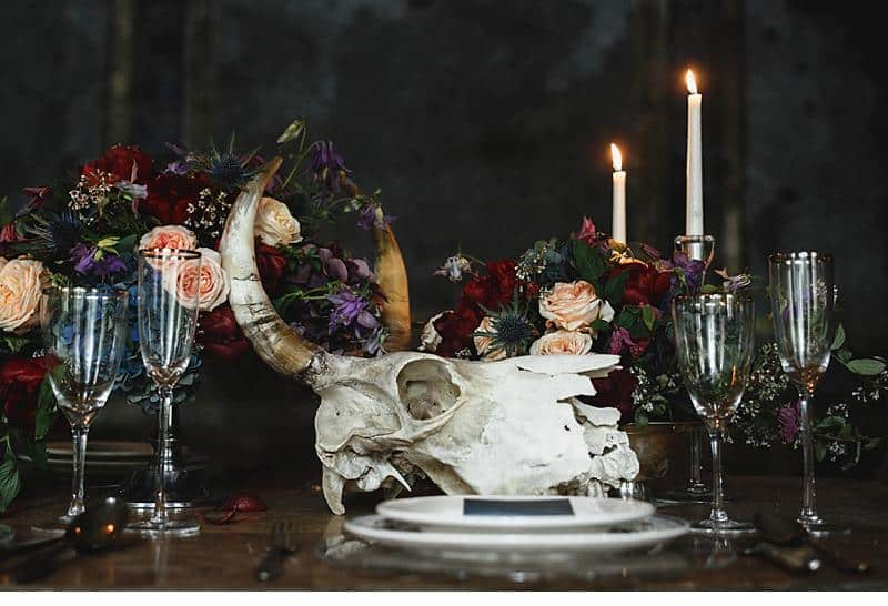 flowers and bones wedding inspirations 0022